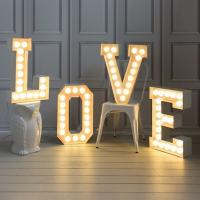 Wholesale Love Style Alphabet LED Light Up Letters Lights Sign For XMAS / Wedding Party from china suppliers