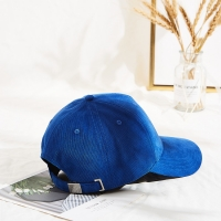 Wholesale new design customized embroidery logo corduroy adult baseball cap for winter from china suppliers