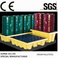 Wholesale Polyethylene Drum Containment Pallets For Chemical , Acids Amd Corrosives Liquid Distributed Load 1100kg from china suppliers
