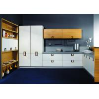Wholesale Pure White Laminate Kitchen Cupboards , Stainless Steel Commercial Kitchen Cabinets from china suppliers
