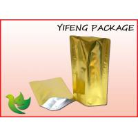 Wholesale Plain Aluminum Foil Stand Up Pouch Empty Tea Bags Black Golden Silver from china suppliers