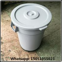Quality 30gallon Industrial Round Waste recycling container with dolly pack waste basket bins  for recycling for sale