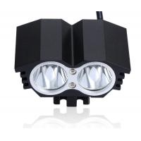 Wholesale Super Bright Rechargeable 2 CREE T6 2000 Lms LED Front Bike Light with Headlamp Belt from china suppliers