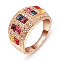 Wholesale 925 Sterling Silver Diamonds Wedding Rings For Women Bride With Colorful Austrian Crystal from china suppliers