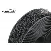 Wholesale Unnapped Black Velcro Loop Tape , Heavy Duty Velcro Tape 20 - 50mm Width from china suppliers