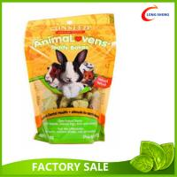 Wholesale Doypack Rabbit Plastic Pet Food Bag, Gusset Bottom Pet Food Pouches With Zip Lock from china suppliers
