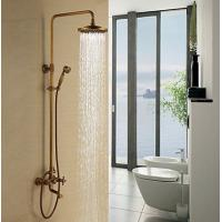 Wholesale Antique Brass Rain Shower Faucet (Shower Head+ Hand Shower), FL-1701-09 from china suppliers