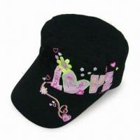 Wholesale Grils Military Cap, Made of 100% Cotton Canvas, Measures 56cm, Available in Various Colors from china suppliers