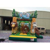 Wholesale 4m Small Forest Themed Inflatable Bouncing Castle Aafari Park With Blower from china suppliers