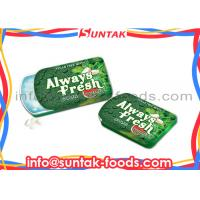 Wholesale Green Low Fat Healthy Sour Watermelon Candy , Calorie Free Candy Slide Tin Box from china suppliers