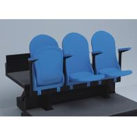 Wholesale 3 People Temporary Grandstand Seating Blue For Conference Auditorium from china suppliers