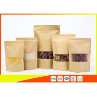 Wholesale Kraft Paper Coffee Bags / Resealable Food Packaging For Tea , Snack from china suppliers