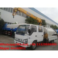 Wholesale ISUZU brand fecal suction truck with mobile telescopic boom for sale,Factory sale best price ISUZU boom truck crane from china suppliers