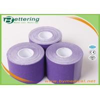 Wholesale Kinesiology Tape 5cm*5m cotton adhesive elastic tape for sporter purple colour from china suppliers