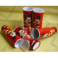 Wholesale Cardboard Pen Gift Boxes Paper Cylinder Box Micky Mouse Carton Pattern from china suppliers