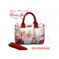 Wholesale Barrel Shape Womens Large Digital Print Bags , Car and Tower Design from china suppliers