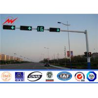 Wholesale 6m Traffic Light Pole Metal Poles Steel Hot Dip Galvanization Electrical Power Pole from china suppliers