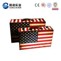 Quality Canvas Printing Wooden Suitcase/Wedding Card Box/Storage Box/ Trunk for sale