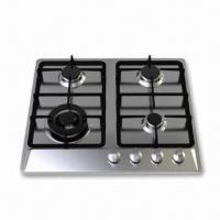 Quality Built-in Four Fold-Burner Gas Stove with Stainless Steel Panel for sale