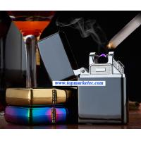 Buy cheap car usb rechargeable double arc USB electric lighter cigarette lighter usb cigarette lighter from wholesalers