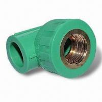 Wholesale PPR Pipe Fittings, OEM Orders are Welcome, Made of PP Resin from china suppliers