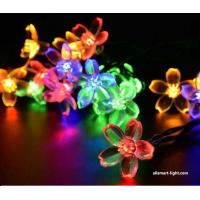 Wholesale 50LED Solar fairy lights ASG-002 solar Chrismas lights solar string lights flower blossom decorative lights from china suppliers