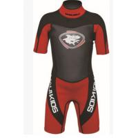 Wholesale Nylon Neoprene Surf Suit Long Sleeve Shorty Wetsuit Lightweight from china suppliers