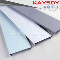 Quality Wooden Grain Perforated Metal Ceiling Panels Fireproof C Shape for sale