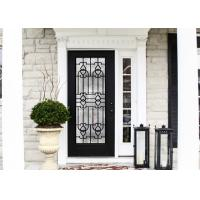 Wholesale Elegant Inlaid Wrought Iron Glass / Decorative Door Glass For Building Hand Forged Textures from china suppliers