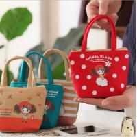 Wholesale Cute pula girl hand carry canvas coin purse cartoon cute cloth keycase coin bag  from  china factory from china suppliers