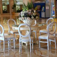 Wholesale New Design Resin Royal Louis Chairs for Wedding Elegant French Dining Chairs for Hotel from china suppliers