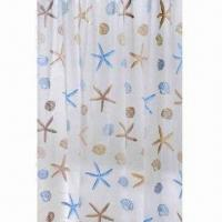 Wholesale Printed PEVA Shower Curtain, Measures 180x180cm, Customized Sizes and Designs are Accepted from china suppliers
