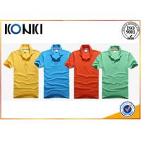 Colorful Embroidered Custom Polo Shirt Short Sleeve For Promotion
