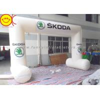 Wholesale White Inflatable Start Finish Arch , Waterproof Inflatable Entrance Arch from china suppliers