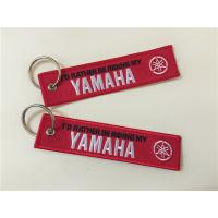 Wholesale I'd Rather Riding My Yamaha Car Logos Fashion  Embroidery Keychain Keyring Key Ring Key from china suppliers