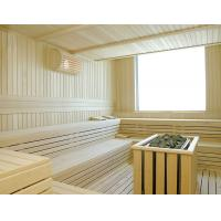 China Wooden Hemlock Cedar Sauna Steam Room Solid Wood For 2 / 4 Person on sale
