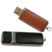 Wholesale Gift leather 1GB 2GB 4GB 8GB 16GB 32GB USB flash disk with embossed or printing logo from china suppliers