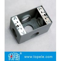 Wholesale Weatherproof Electrical Boxes 3 Holes / 5 Holes Single Gang Outlet Boxes Die Cast Metal from china suppliers