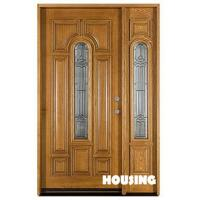 Wholesale Glazed Heat Solid Timber Door For Villas , Six Layer Painting Finishing from china suppliers