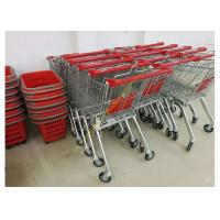 Quality OEM Euro Style Metal Supermarket Four Wheels Shopping Trolley For Store for sale