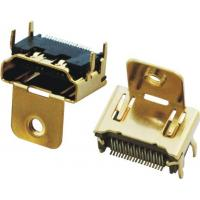 Wholesale PCB HDMI Connectors 19P Female SMT Type With Single Ear Gold-Plated from china suppliers