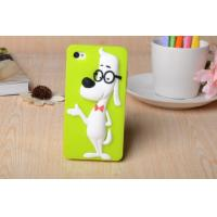 Wholesale The new creative genius glasses dog silica gel protective sleeve Apple following from china suppliers
