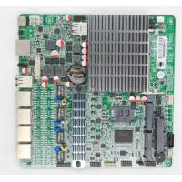Wholesale Dual Core Fanless Quad LAN Motherboard With 4 Intel Gigabit Network Card from china suppliers