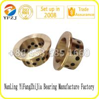 Wholesale JFB series Oilless Solid inlaid copper bushing Flange graphite bronze bushes from china suppliers