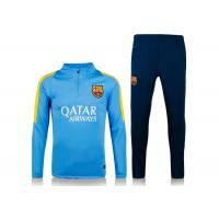 Wholesale 2016 Soccer Tracksuit Barcelona Blue Training Suit With BEKO Print Dry Fit Thai from china suppliers