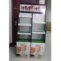 Quality Milk tea Cardboard Floor Display LOGO printed , lightweight and strong for sale
