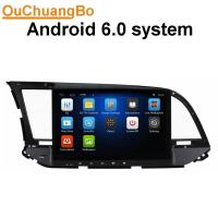 Quality Ouchuangbo car dvd gps navigation android 6.0 for for Hyundai Elantra 2016 with BT wifi steering wheel control for sale