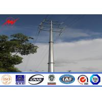 Quality Hot dip galvanization electrical power pole for over headline project for sale