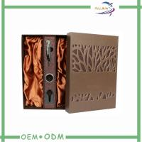 Wholesale Rigid Wine Gift Packaging Classical PU Leather  Wine Carrier Two Piece from china suppliers