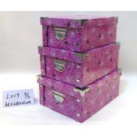 Wholesale Sturdy Recycled High Gloss Gift Boxes , Gift Storage Purple Three Fold Paper Box from china suppliers